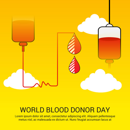 blood supply: World blood donor day illustration.