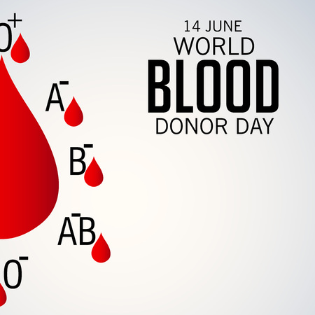 World blood donor day illustration.