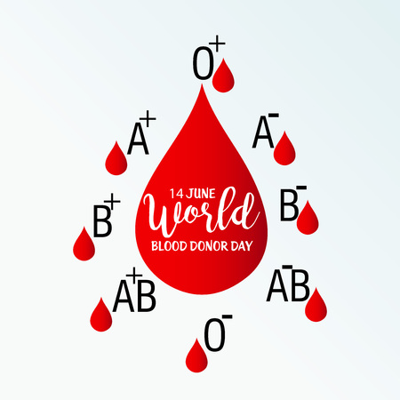 World blood donor day illustration.
