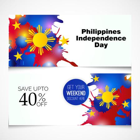 Jour de l'indépendance des Philippines. Banque d'images - 80025620