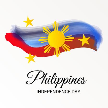 Filippijnen Independence Day. Stock Illustratie