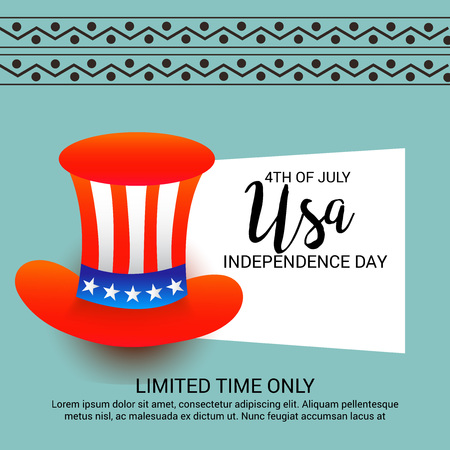 4th of July Usa Independence Day. Illustration