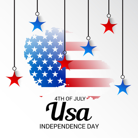 country: Happy 4th of July, USA Independence Day.