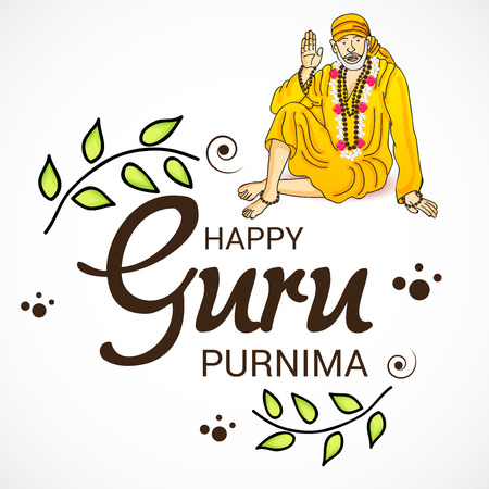 Happy Guru Purnima. Illustration