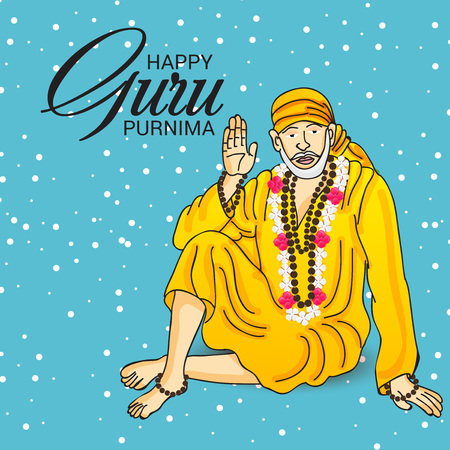 sikh: Happy Guru Purnima. Illustration
