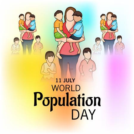 World Population Day. Stock Vector - 81289104