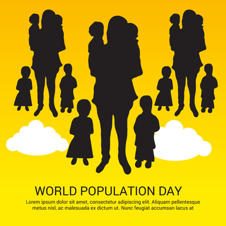 World Population Day. Stock Vector - 81289105
