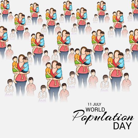 World Population Day. Stock Vector - 81289110