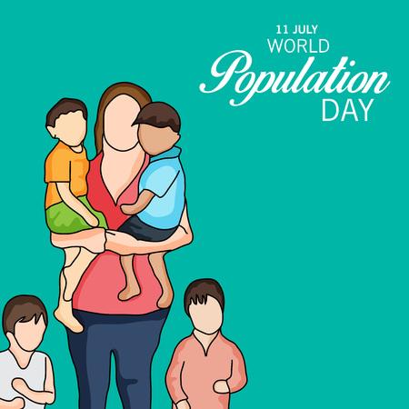 World Population Day. Stock Vector - 81289112