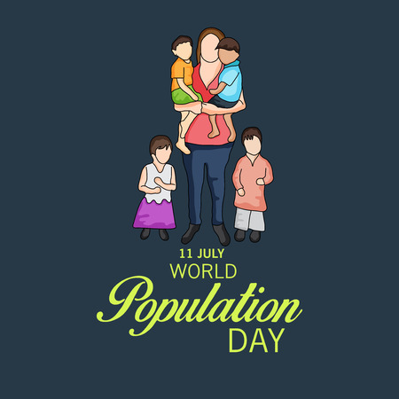World Population Day. Stock Vector - 81221507