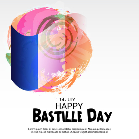 14th July Bastille Day vector illustration.