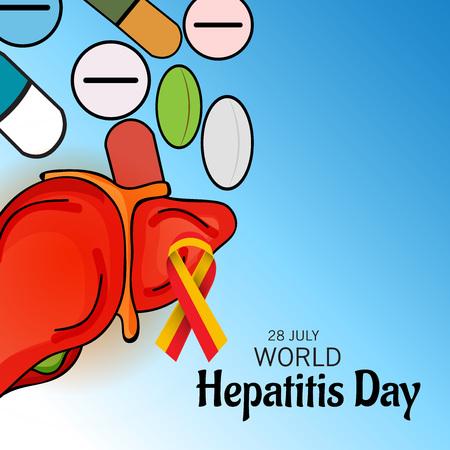 hepatitis prevention: World Hepatitis Day. Illustration