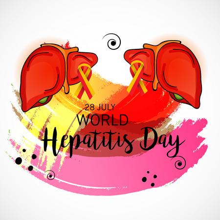 World Hepatitis Day. Illustration