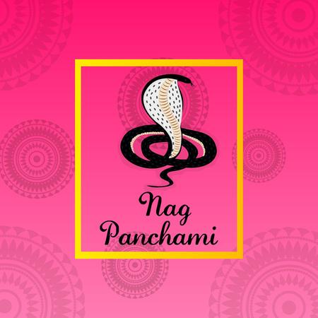 auspicious: Happy Nag Panchami. Illustration