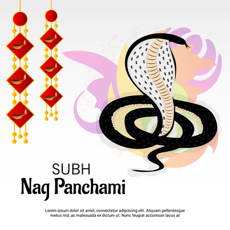 Happy Nag Panchami. Illustration