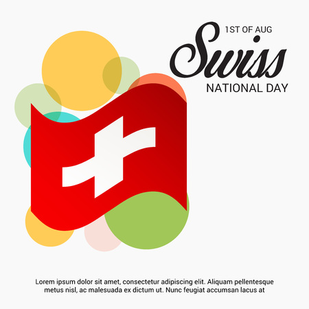federal election: Swiss National Day. Vector illustration.