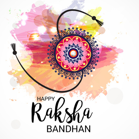Raksha Bandhan Background Vector Illustration