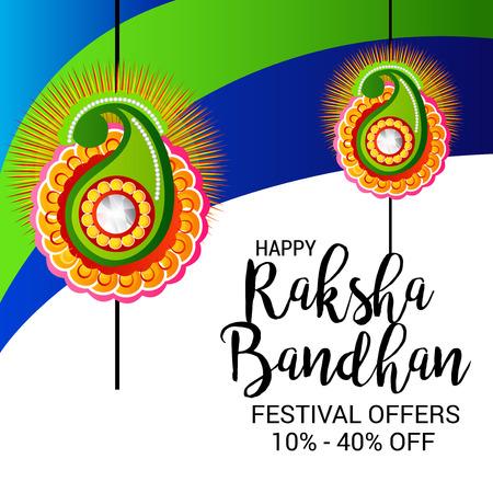 raksha: Happy Raksha Bandhan. Vector illustration. Illustration