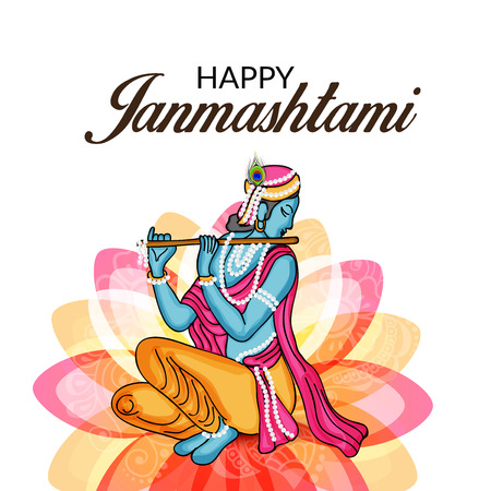 Happy Janmashtami. Vector illustration. Illustration