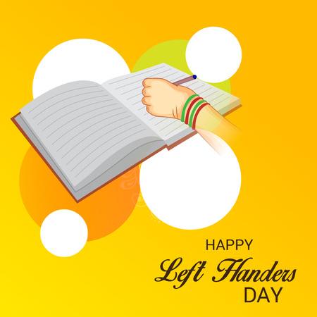Happy left handers day. Illustration