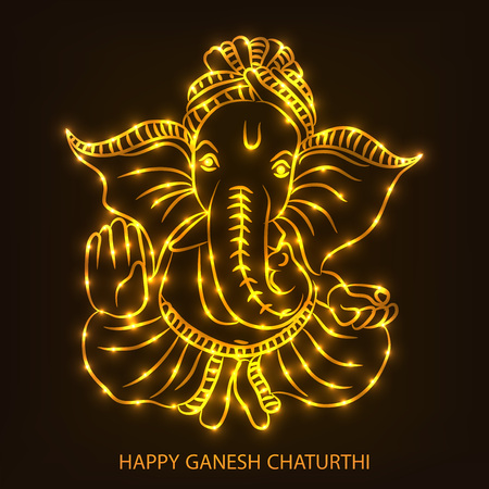 Happy Ganesh Chaturthi. Stockfoto - 83769297