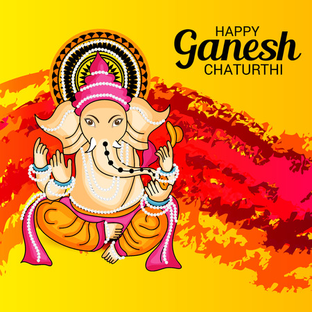 Happy Ganesh Chaturthi. Vector illustration. Illustration