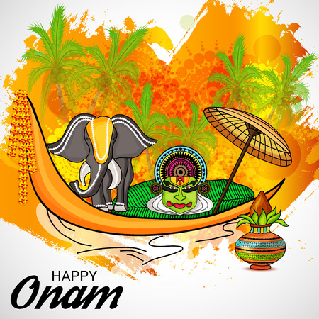 illustration of a Background for Happy onam. Illustration