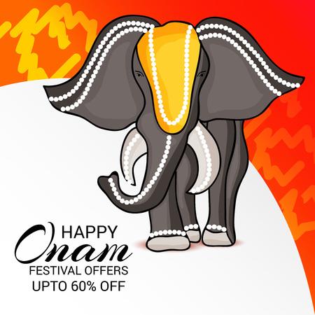 illustration of a Background for Happy onam. Illustration