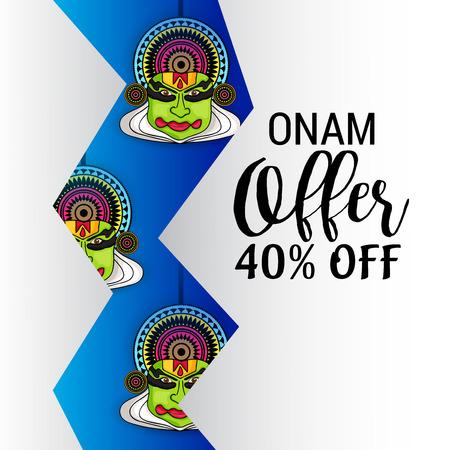 illustration of a Background for Happy Onam.