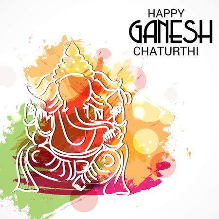 illustration of a Background for Happy Ganesh Chaturthi.