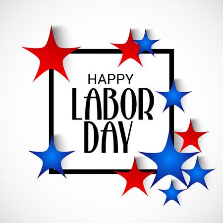 illustratie van een achtergrond voor Happy Labor Day. Stock Illustratie