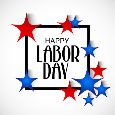illustration of a Background for Happy Labor Day.