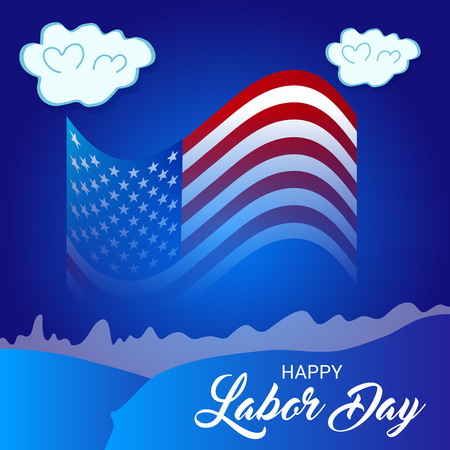 illustration of a Background for Happy Labor Day. Illustration
