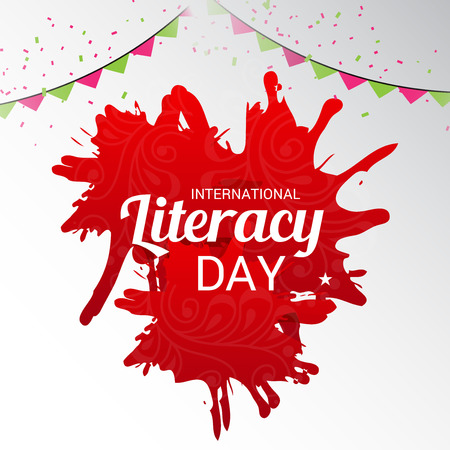 illustration of a Banner for International Literacy Day.