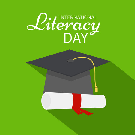 illustration of a Background for International Literacy Day.