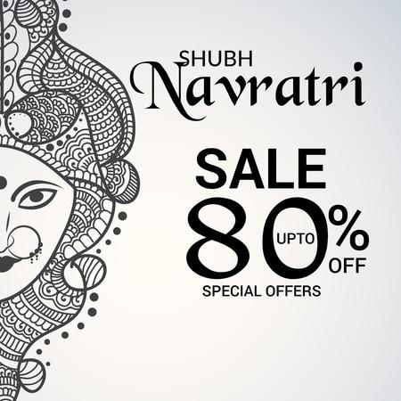 Illustration for Happy Navratri vector