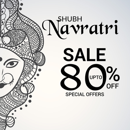 Illustration for Happy Navratri vector