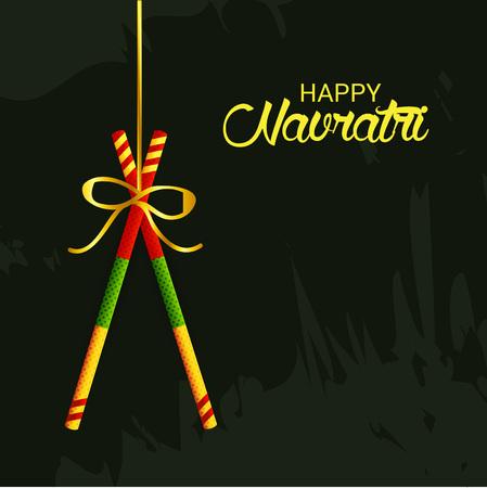 해피 Navratri에 대 한 배경의 그림입니다.