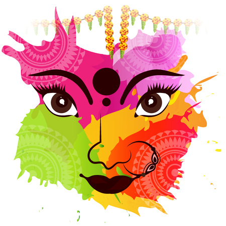 illustration of a Background for Happy Navratri.