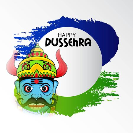 Vector illustration of a banner for Happy Dussehra.
