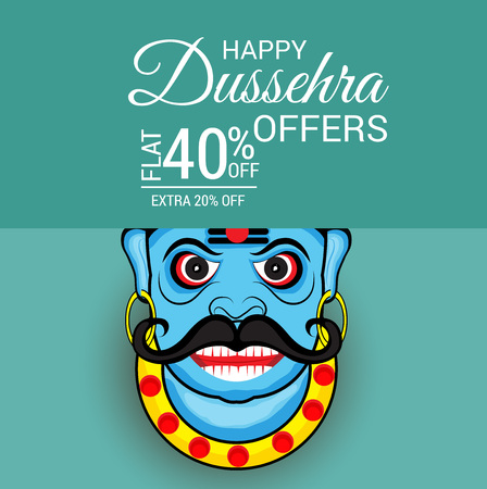 holiday shopping: Vector illustration of a banner for Happy Dussehra.
