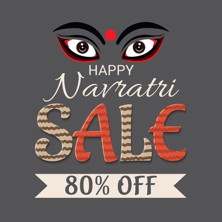 Vector illustration of a banner for Happy Navratri.