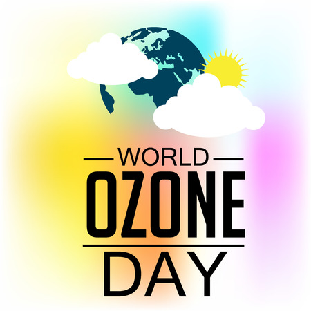 atmosphere: Vector illustration of a banner for World Ozone Day.