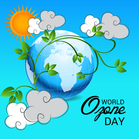 Vector illustration of a banner for World Ozone Day.