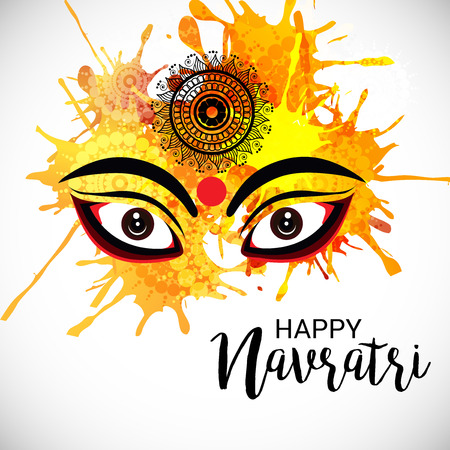 Happy Navratri. Stock Vector - 85873682