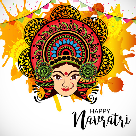 Happy Navratri. Illustration