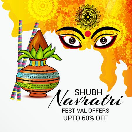 Happy Navratri. Stock Vector - 85873703