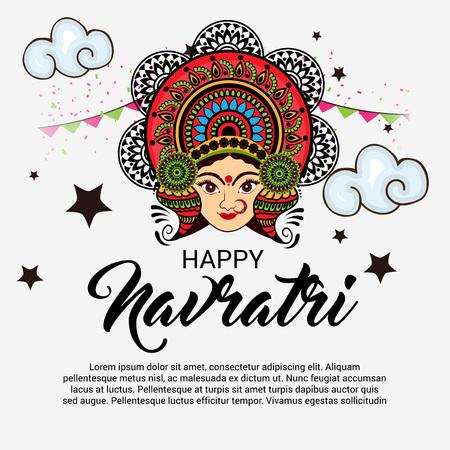Happy Navratri. Stock Vector - 85873718