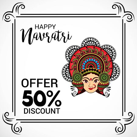 Happy Navratri banner Illustration