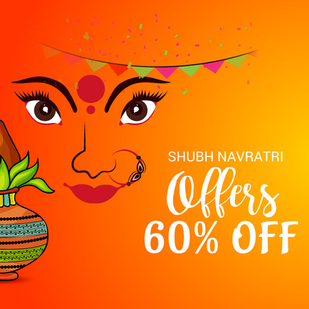 Happy Navratri banner Illustration
